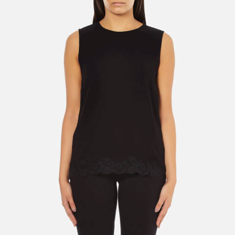Theory Women's Alshvee Admiral Crepe Light Lace Top - Black