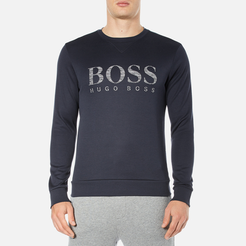 BOSS Green Men's Salbo Logo Sweatshirt - Blue