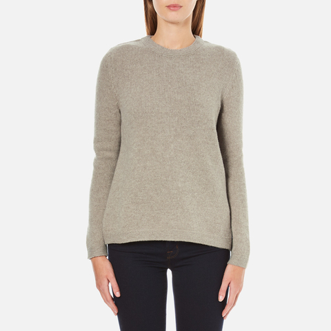 Barbour Heritage Women's Stratus X-Back Crew Neck Jumper - Stone Marl