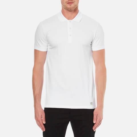 Versace Collection Men's Collar Detail Polo Shirt - White