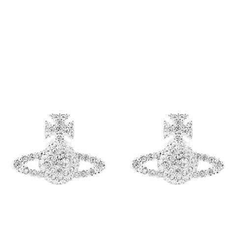 Vivienne Westwood Jewellery Women's Grace Bas Relief Stud Earrings - Crystal