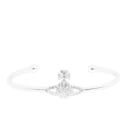 Vivienne Westwood Jewellery Women's Grace Bas Relief Bangle - Crystal