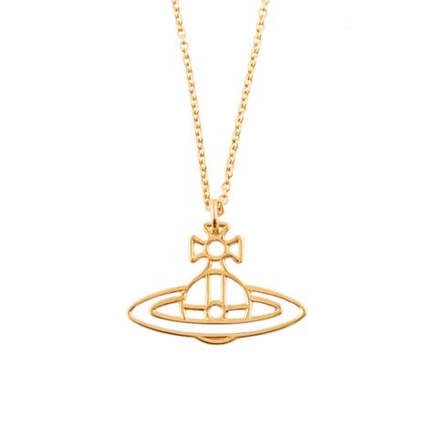 Vivienne Westwood Jewellery Women's Thin Lines Flat Orb Pendant - Gold