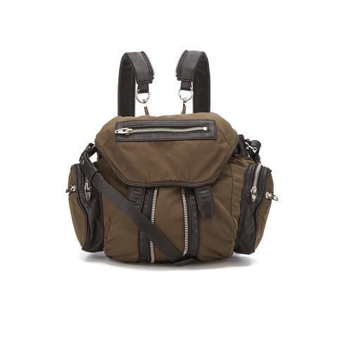 Alexander Wang Women's Mini Marti Military Nylon/Leather Backpack - Military