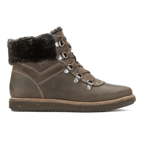 Clarks Women's Glick Clarmont Leather Hiking Boots - Khaki