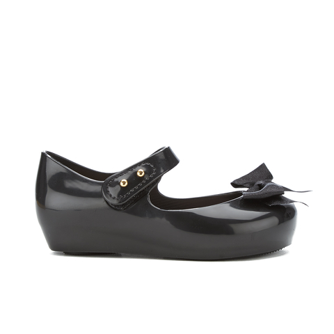 Mini Melissa Toddlers' Ultragirl Silk Bow Ballet Flats - Black