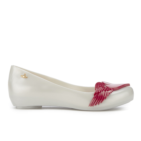 Vivienne Westwood for Melissa Women's Ultragirl 16 Ballet Flats - Pearl Red Cherub