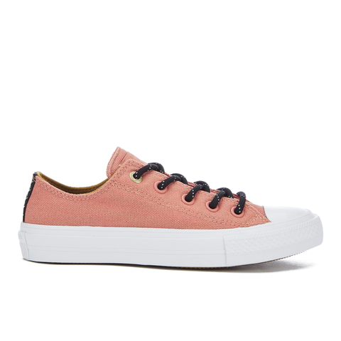 Converse Women's Chuck Taylor All Star II Shield Canvas Ox Trainers - Pink Blush/White/Relic Gold