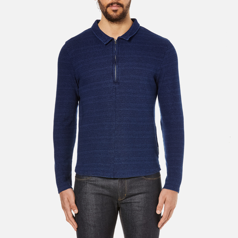 Oliver Spencer Men's Faro Jersey Shirt - Kobe Indigo