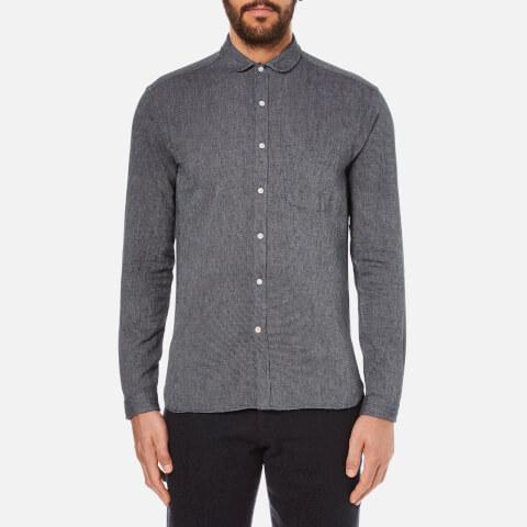 Oliver Spencer Men's Eton Collar Shirt - Lupin Charcoal