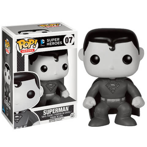 Black & White Superman Funko Pop! Figuur