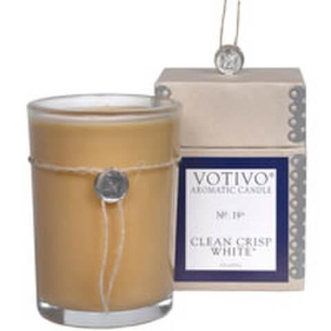 Votivo Aromatic Candle - Clean Crisp White