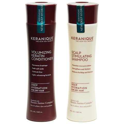 Keranique Deep Hydration Scalp Stimulating and Volumizing Duo