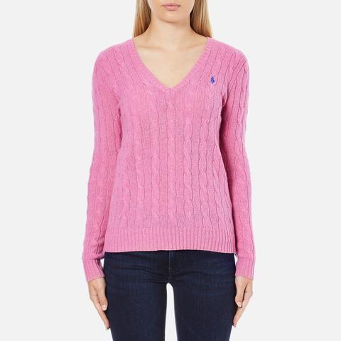 Polo Ralph Lauren Women's Kimberly Cashmere Blend Jumper - Wesley Pink Heather