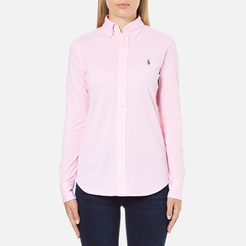 Polo Ralph Lauren Women's Heidi Long Sleeve Shirt - Carmel Pink