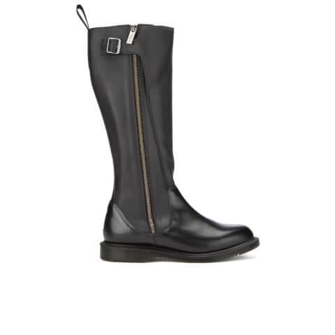 Dr. Martens Women's Chianna Polished Smooth Knee High Boots - Black