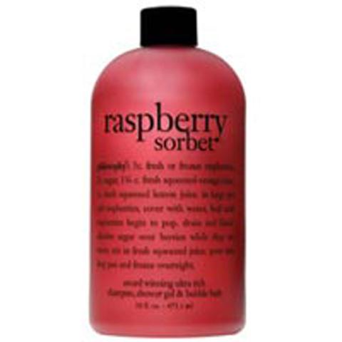philosophy raspberry sorbet shampoo, bath & shower gel 480ml