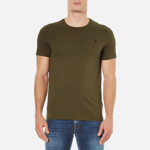 Polo Ralph Lauren Men's Short Sleeve Crew Neck Custom Fit T-Shirt - Defender Green