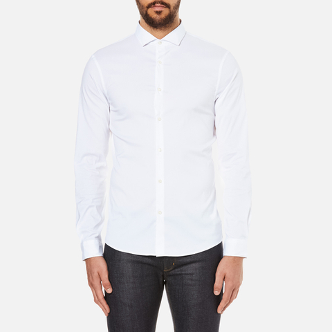 Michael Kors Men's Slim Long Sleeve Shirt - White