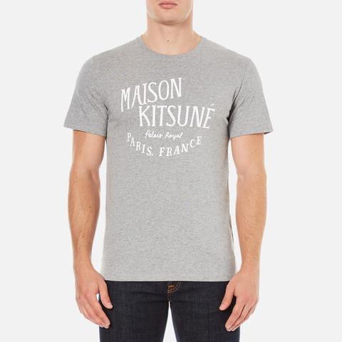 Maison Kitsuné Men's Palais Royal T-Shirt - Grey Melange