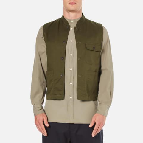 Universal Works Men's Battle Military Waistcoat - Military Olive
