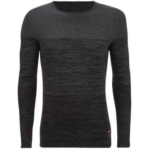 Produkt Men's Basket Contrast Graded Jumper - Dark Grey Melange