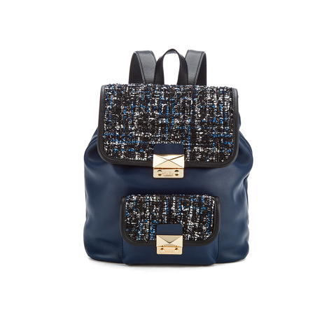 Karl Lagerfeld Women's K/Kuilted Tweed Backpack - Midnight Blue