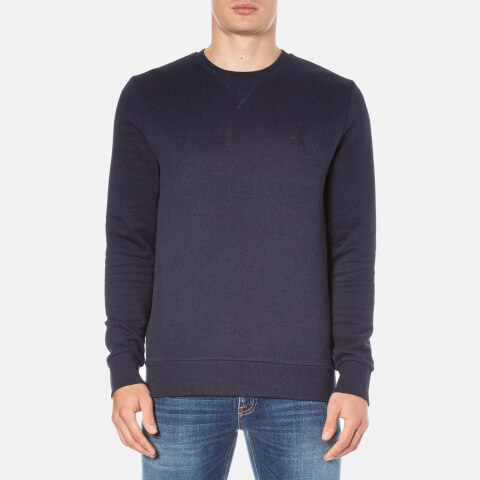 Calvin Klein Men's Hatch Crew Neck Sweatshirt - Night Sky Heather
