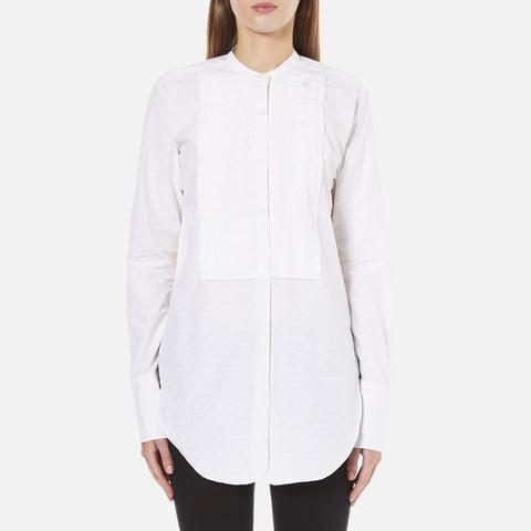 Helmut Lang Women's Raw Tuxedo Shirt - White/Multi