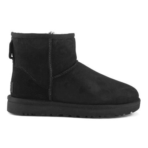 UGG Women's Classic Mini II Sheepskin Boots - Black