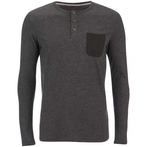 Produkt Men's Contrast Pocket Long Sleeve Top - Black Melange
