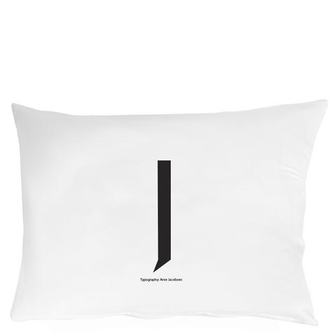 Design Letters Pillowcase - 70x50 cm - J