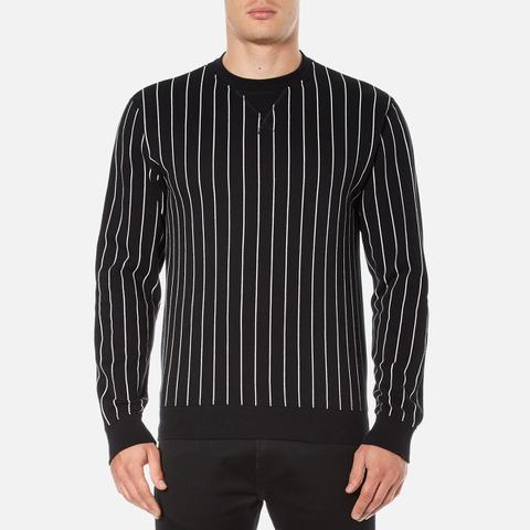 Edwin Men's Classic Crew Sweatshirt - Black Vertical Stripes