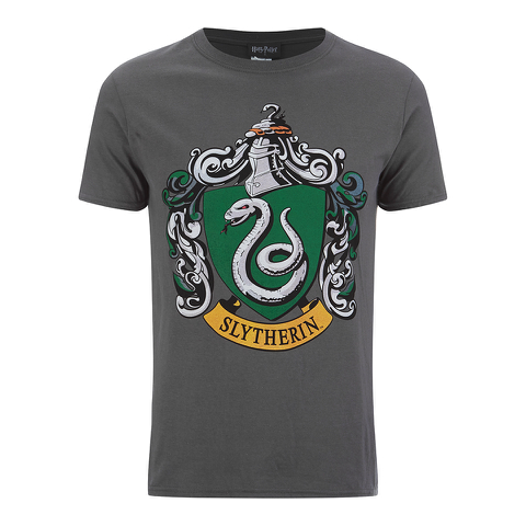 Harry Potter Men's Slytherin Shield T-Shirt - Grey