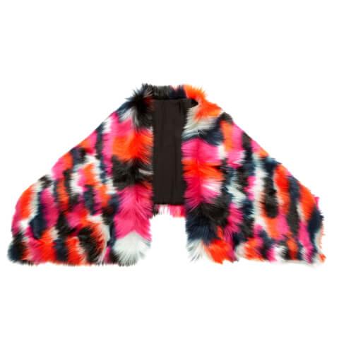 McQ Alexander McQueen Women's Patchwork Fur Scarf - Black/Multi