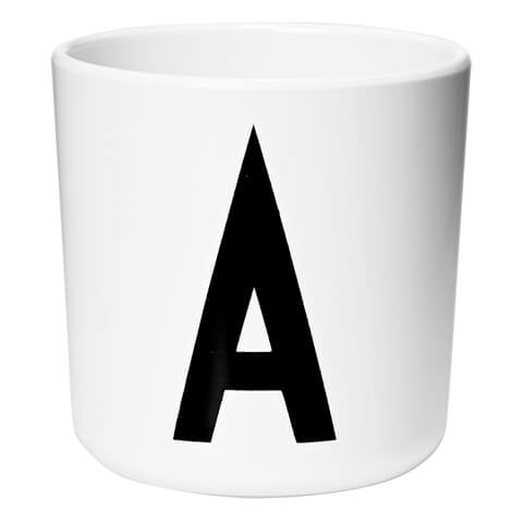 Design Letters Kids' Collection Melamin Cup - White - A
