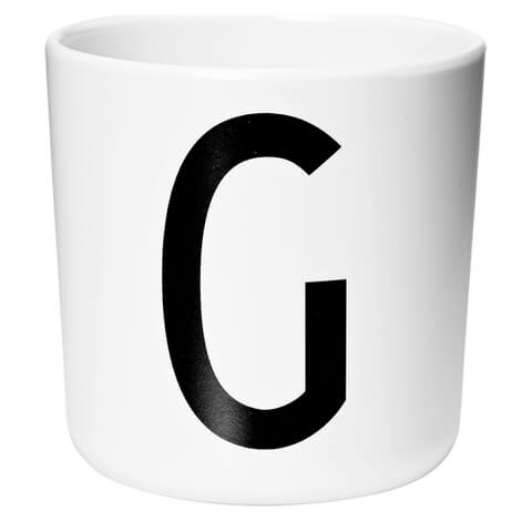 Design Letters Kids' Collection Melamin Cup - White - G