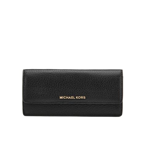 MICHAEL MICHAEL KORS Women's Bedford Large Flat Wallet - Black