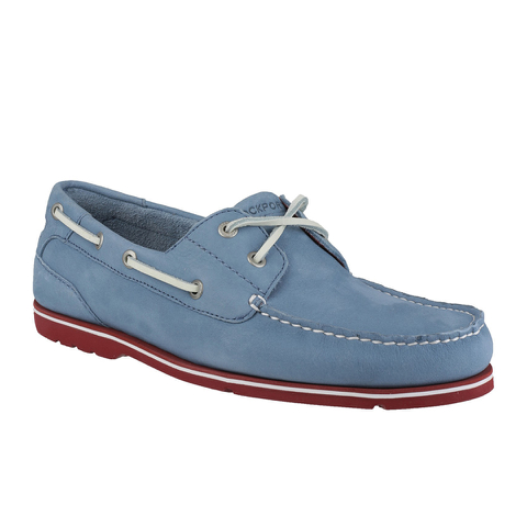 Rockport Men's Summer Tour 2-Eye Boat Shoes - Light Blue