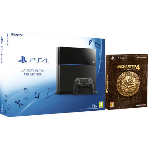 Sony PlayStation 4 1TB Console - Includes Uncharted 4: A Thief's End - Special Edition