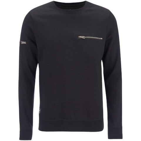 Threadbare Men's Chapel Crew Neck Sweatshirt - Black
