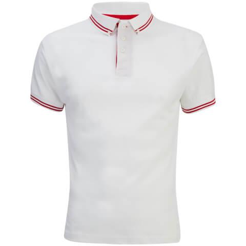 Soul Star Men's Ralling Polo Shirt - White