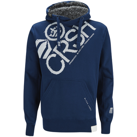 Crosshatch Men's Flashpoint Borg Lined Pull On Hoody - Estate Blue