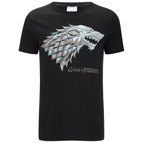 Game of Thrones Mens Stark Sigil T-Shirt - Zwart