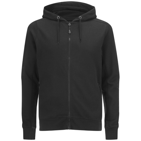 Dissident Men's Cobden Pique Zip Through Hoody - Black