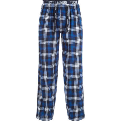 Tokyo Laundry Men's Cordella Flannel Lounge Pants - Blue Check