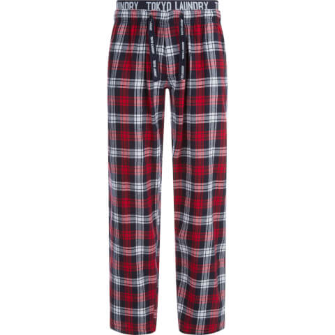 Tokyo Laundry Men's Cordella Flannel Lounge Pants - Red Check