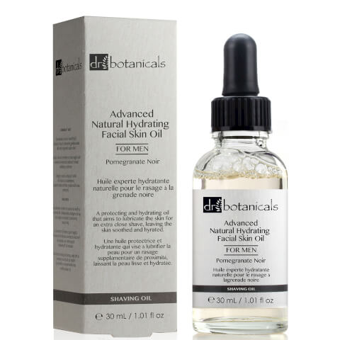 Dr Botanicals Pomegranate Noir Advanced Natural Hydrating Facial Skin Oil For Men 30ml
