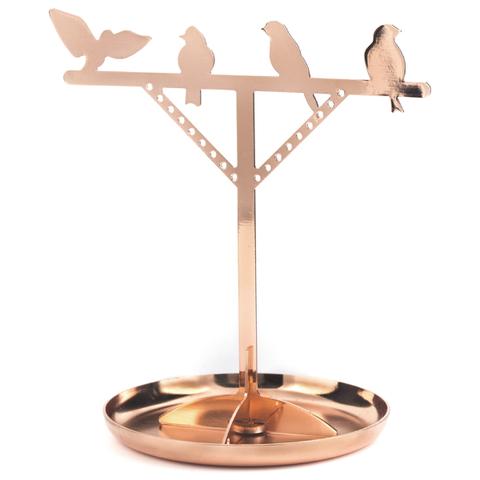 Copper Bird Jewellery Stand