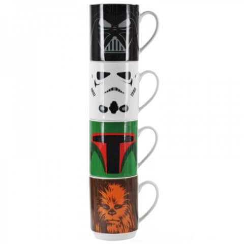 Star Wars Stacking Mugs (Set of 4)